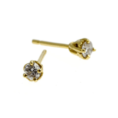 Entwine 18ct Gold .16pt Diamond Ear Studs