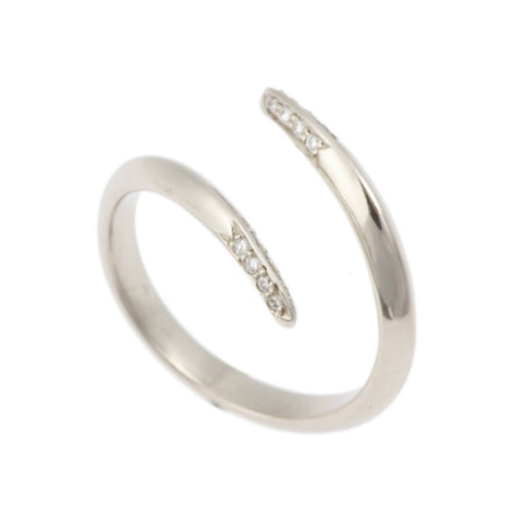 Triffid Platinum VR3 Coil Wedding Ring with Diamond Tips