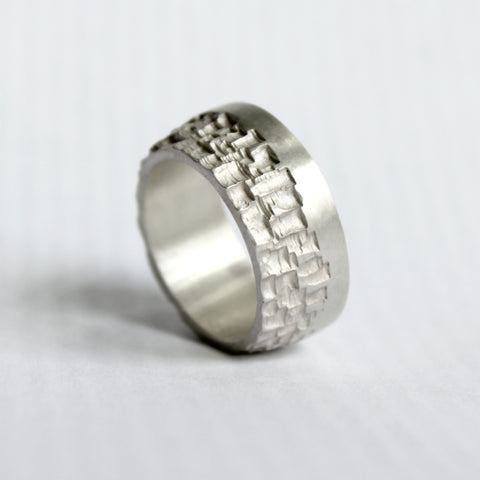 Luna Silver Single Edge Ring