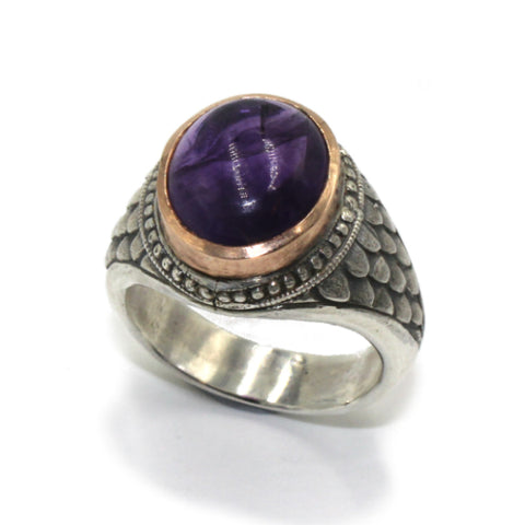Hoye Division College Style Ring with Iolite