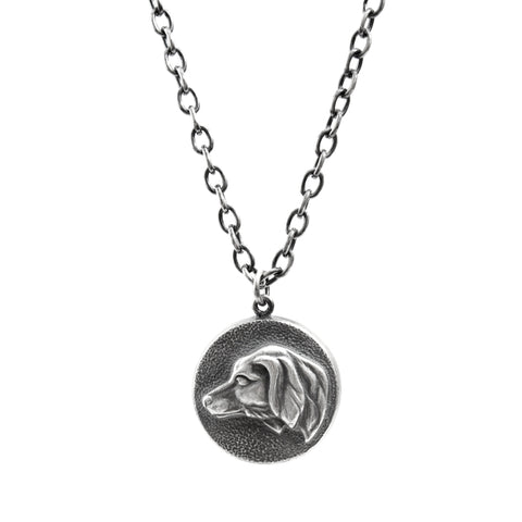 Silver Hunting Dog Necklace