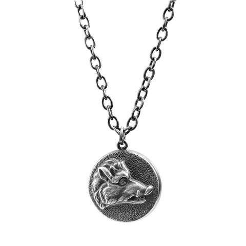 Silver Wild Boar Necklace