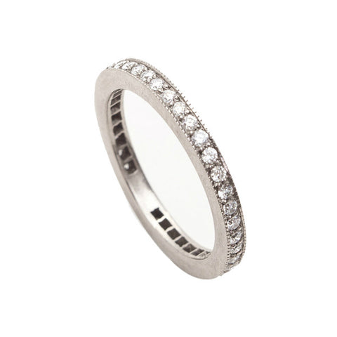 Square Edge Diamond Eternity Ring in 18ct White Gold