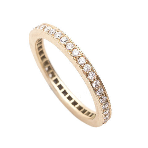 Square Edge Diamond Eternity Ring in 18ct Yellow Gold