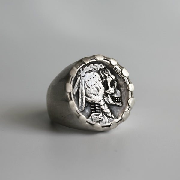 Hoye Division Limited Edition Silver Large Hobo Coin Ring