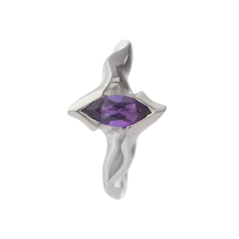 Electra Silver Ring with Marquise Amethyst