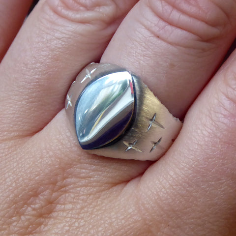 Trinity Large Silver Signet Ring