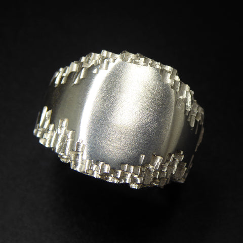 Luna Silver Large Signet Ring