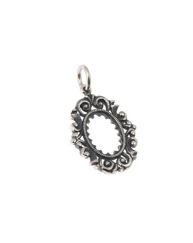 Silver Ornate Picture Frame Charm