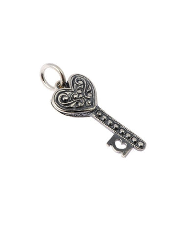 Silver Sweetheart Key Charm