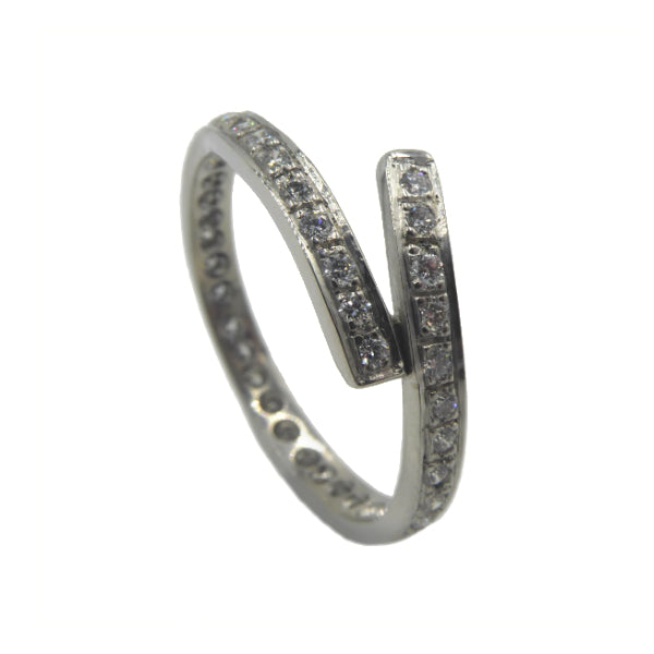 Tulip Platinum Single Row Eternity Ring