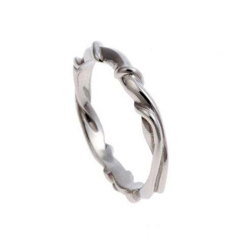 Entwine Narrow Band in Silver