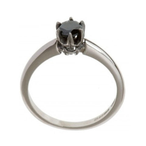 Collette 18ct White Gold .50pt Black Diamond Ring