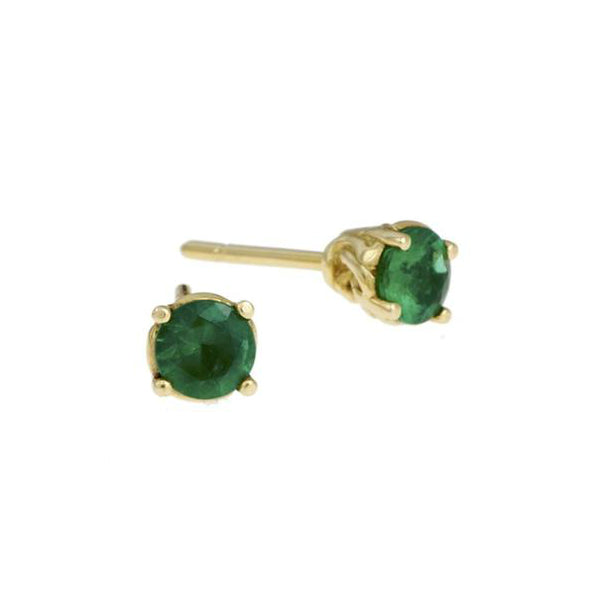 Entwine 18ct Yellow Gold 1 Carat Emerald Studs