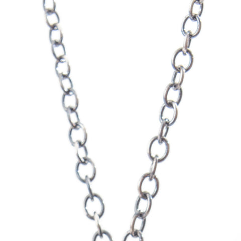 Silver Necklace Charm Chain