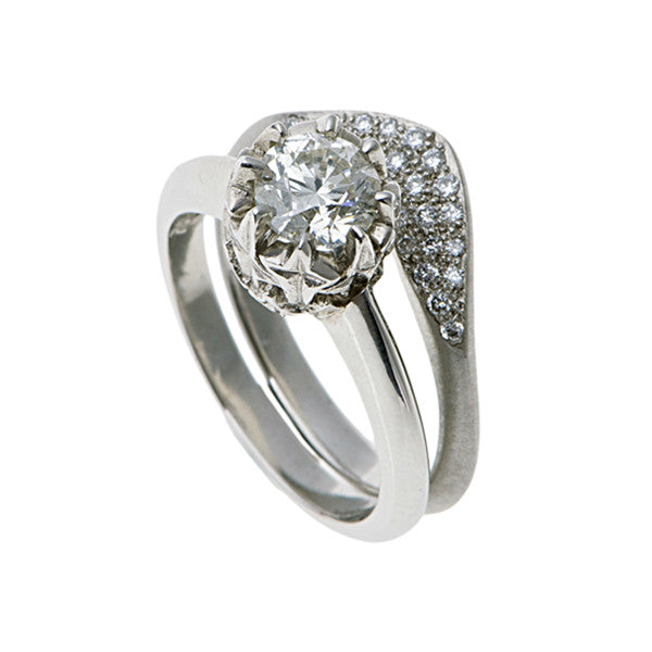 Collette Platinum Wedding Ring with Diamonds