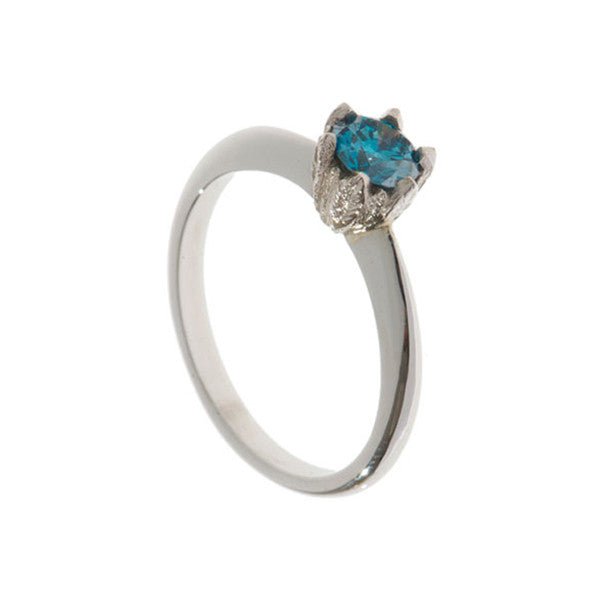Collette Platinum 46pt Blue Diamond Ring