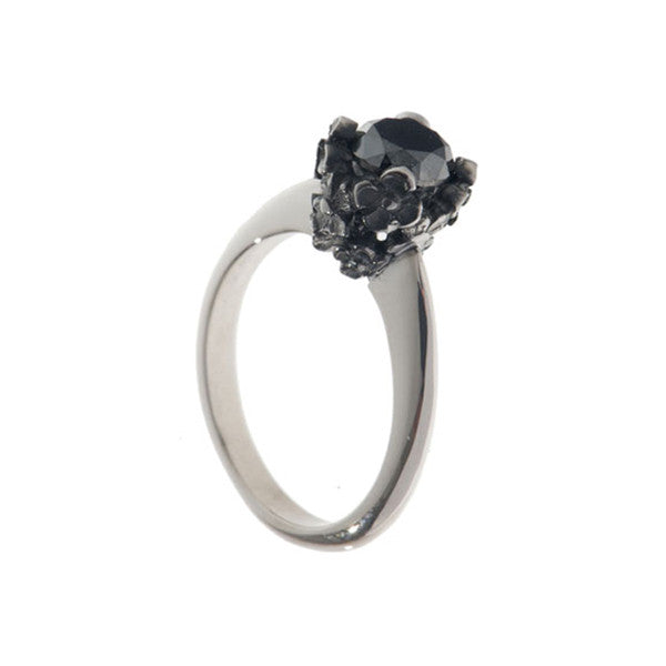Collette Platinum 1ct Black Diamond Ring
