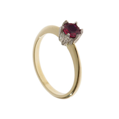 Collette 18ct Yellow Gold .50pt Ruby Ring