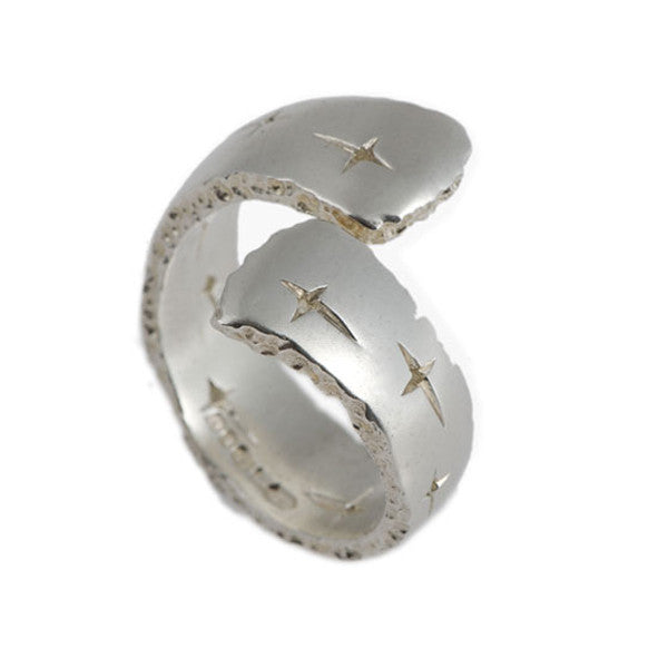 Trinity Silver Open Crossover Ring