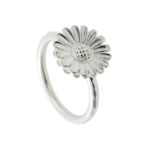 Naturist Silver Daisy Ring