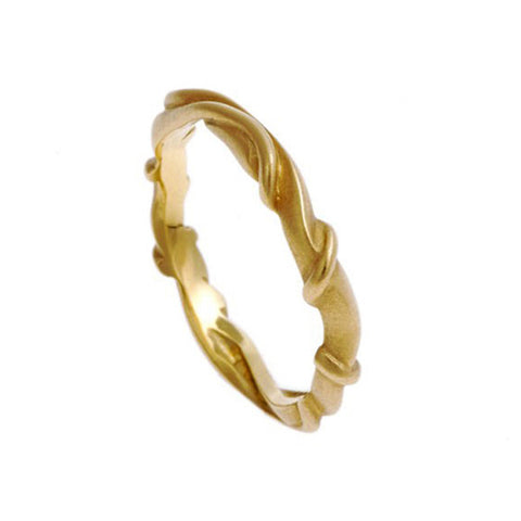 Entwine 18ct White/Yellow/Rose Gold Band