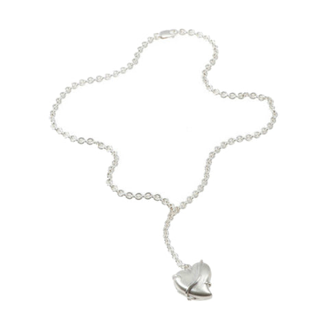 Entwine Silver Small Heart Locket Necklace