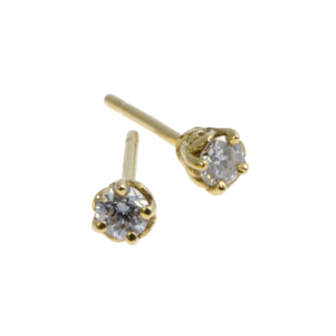 Entwine 18ct Yellow Gold .30pt Diamond Ear Studs