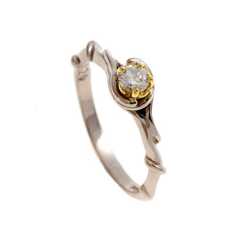Entwine 18ct White Gold Solitaire With .20pt Diamond