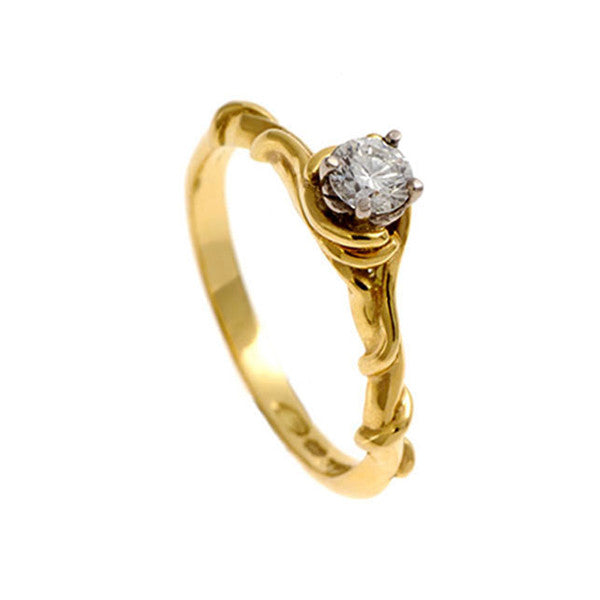 Entwine 18ct Yellow Gold Solitaire with .20pt Diamond