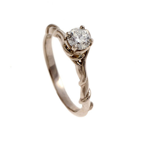 Entwine 18ct White Gold Ring with .25pt Diamond