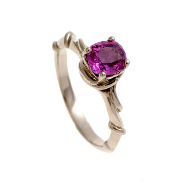 Entwine 18ct White Gold Ring with .50pt Pink Sapphire