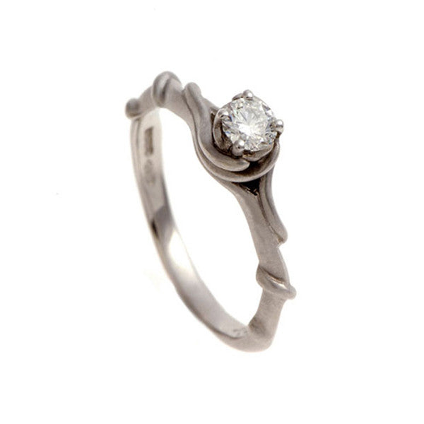 Entwine Platinum Ring with .25pt Diamond
