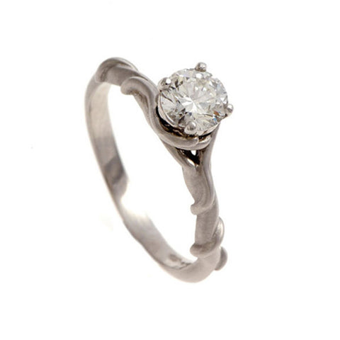 Entwine Platinum .75pt Diamond Engagement Ring