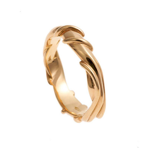 Entwine 18ct Rose Gold Wide Ring