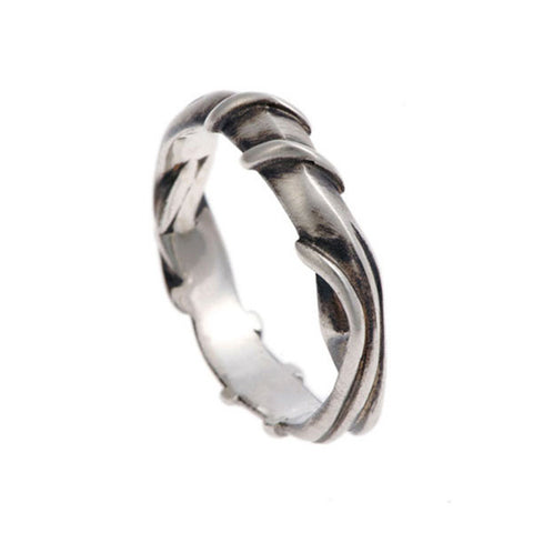 Entwine Silver Wide Ring