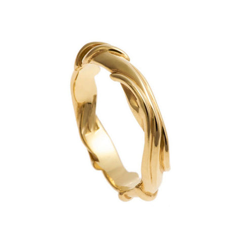 Entwine 18ct Yellow Gold Wide Ring