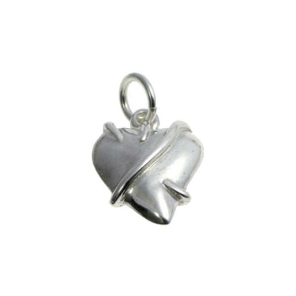 Entwine Silver Heart Charm