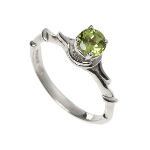 Entwine Silver Ring with Peridot