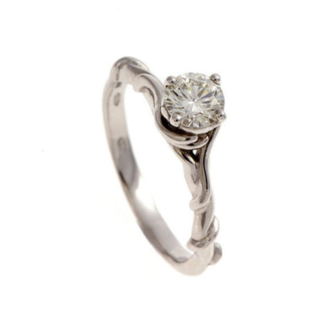 Entwine Platinum Ring with .50pt Diamond