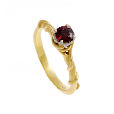 Entwine 18ct Yellow Gold 25pt Ruby Bespoke Engagement Ring