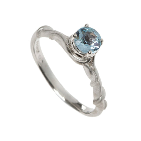 Entwine Silver Ring with Sky Blue Topaz