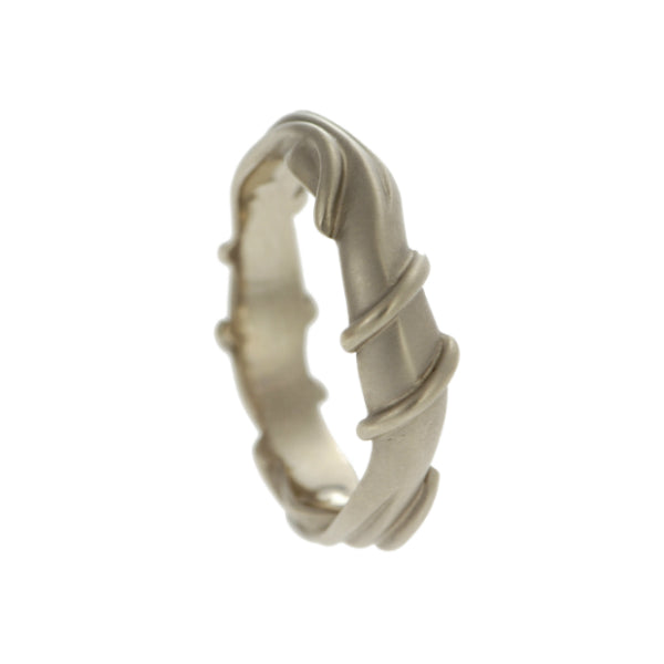 Entwine 18ct White Gold Wide Ring