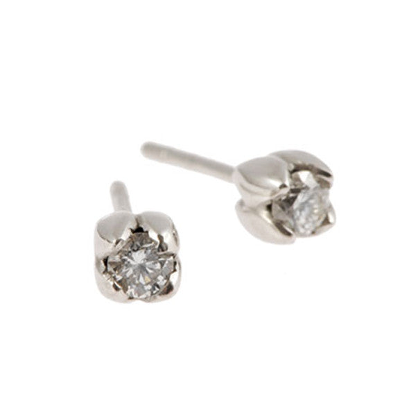 Tulip 18ct White Gold .50pt Diamond Earrings
