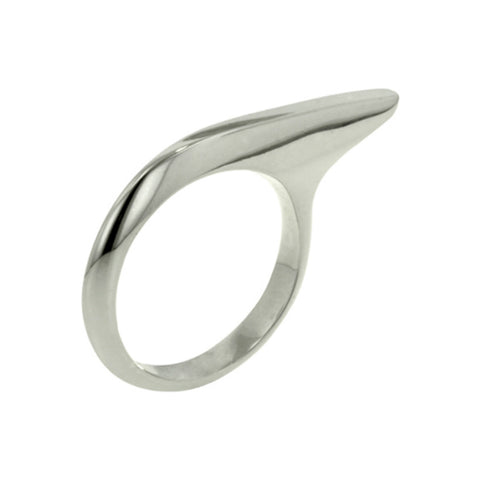 Finn Silver Single Short Across Finger Ring