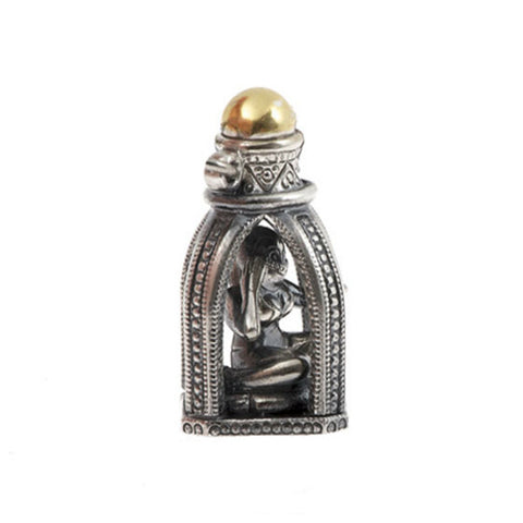 Silver Genie In A Bottle Charm