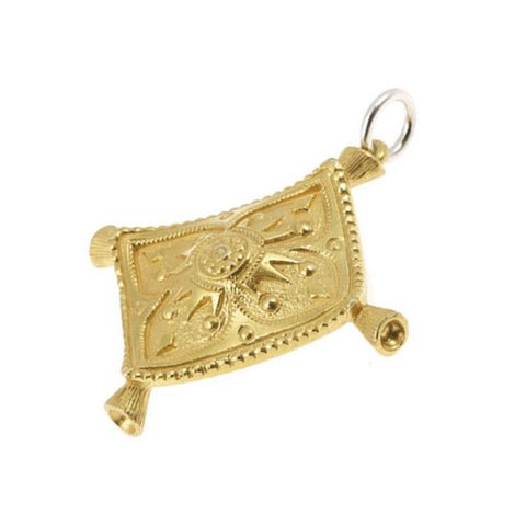 Silver Gold Plated Magic Carpet Charm