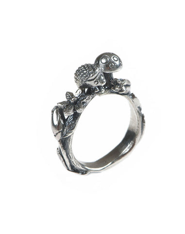Woodland creature Silver ring