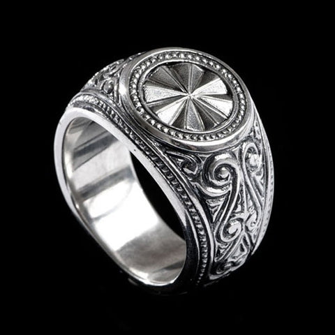 Hoye Division Traditional Engraved Signet Ring