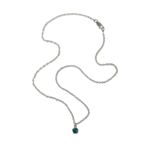Entwine Silver Necklace with London Blue Topaz